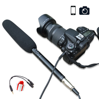 Ulanzi Handheld Video Microphone Interview Mic For iPhone X/8 7 Plus Smartphone Android DSLR Camera Nikon Canon Sony Camcorders