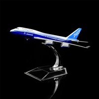 1:400 16cm Boeing 747 Metal Airplane Model Office Decoration Toy Gift Idea