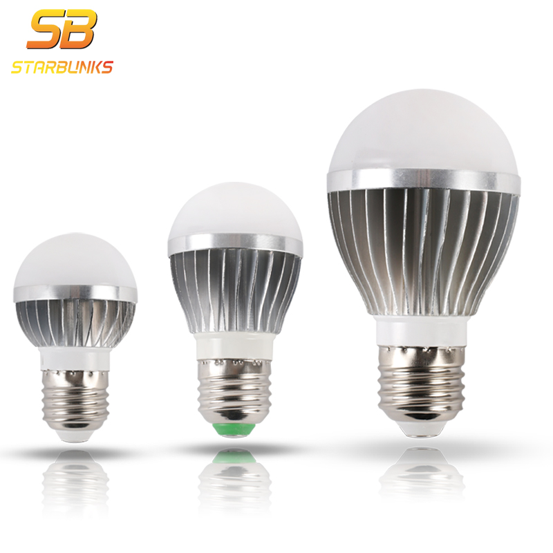 STARBUNKS LED Bulb Lamp E27 5W 7W 9W 12W 220V Smart IC Real Power Cold White/Warm White Lampada Ampoule Bombilla LED ...