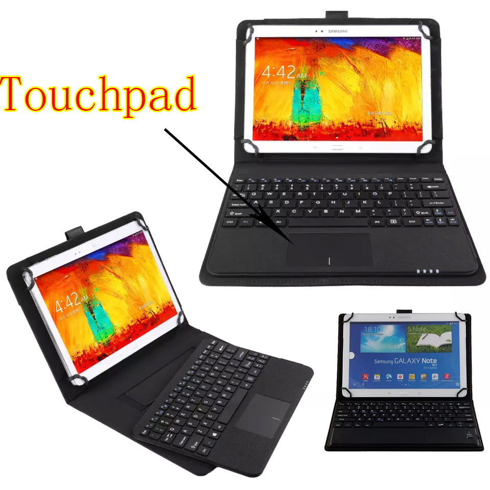 3in1 Universal Dechatable Bluetooth Keyboard w/ Touchpad & PU Leather Case Cover for Google Pixel C 10.2 universal 61 key bluetooth keyboard w pu leather case for 7 8 tablet pc black