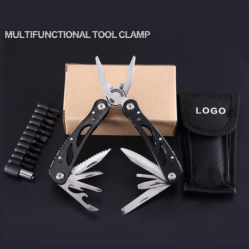 Multifunctional Folding Pliers set Fishing Camping Outdoor Survival EDC Gear Multitool Pocket Knife Pliers Screwdriver Bits
