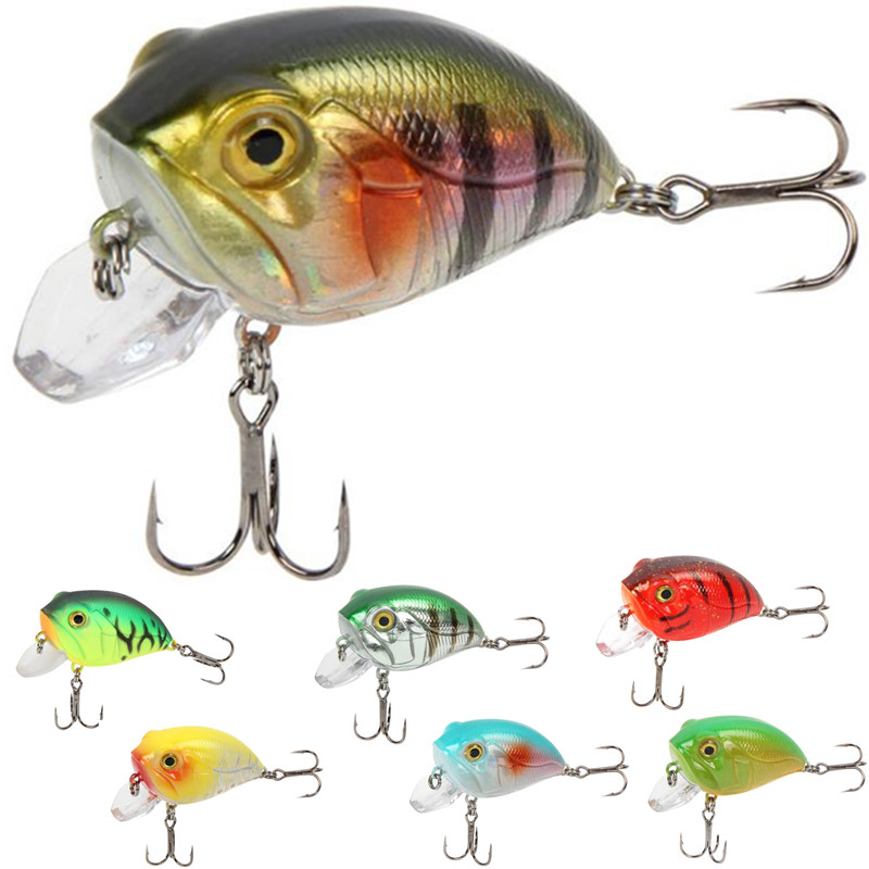7 Colors fishing tackle Crankbait Wobblers Hard Fishing Lures 8g 4cm Swim bait Crank Bait Bass Fishing Lures