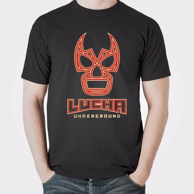 Aliexpress.com : Buy Lucha Underground Mascara Tee Mens T Shirts AAA euro sizeS XXXL from ...