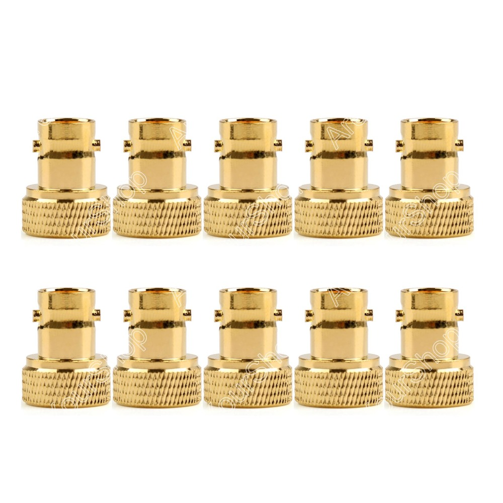 Areyourshop Sale 10Pcs Adapter BNC Female Jack To SMA Male Plug RF Connector Straight Gold Plating adapter n plug male nickel plating to sma female gold plating jack rf connector straight vc720re p15 0 3