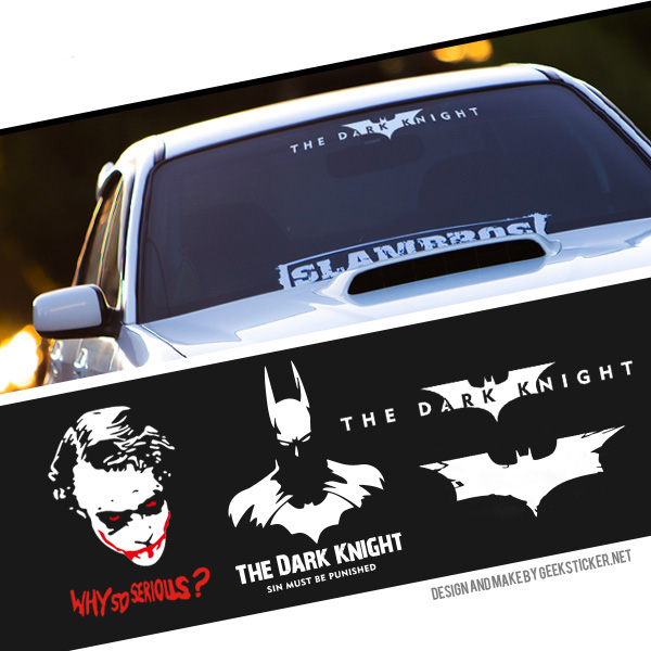 Batman Robin The Dark Knight New Logo Ho Car Auto Motorcycle Decal Sticker Cover Window Body Car-Styling Exterior Decoration