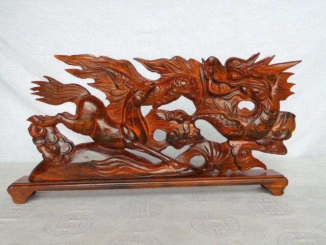 Mahogany wood carving wood carving ornaments vigorous spirit of