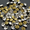 Clear Czech Crystal Rhinestones small size Cone Transparent Round Pointed Foiled Back DIY Faceted Decoration ss1 to ss16