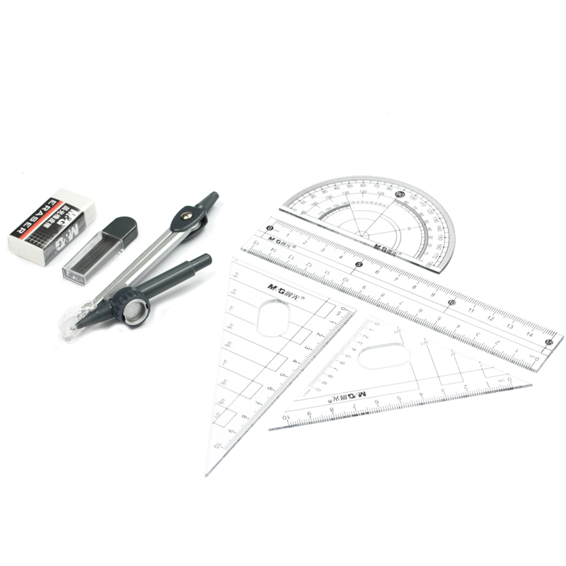 1SET Compasses Drafting Tools Drawing Math Compass Set School Supplies Stationery ASC90808