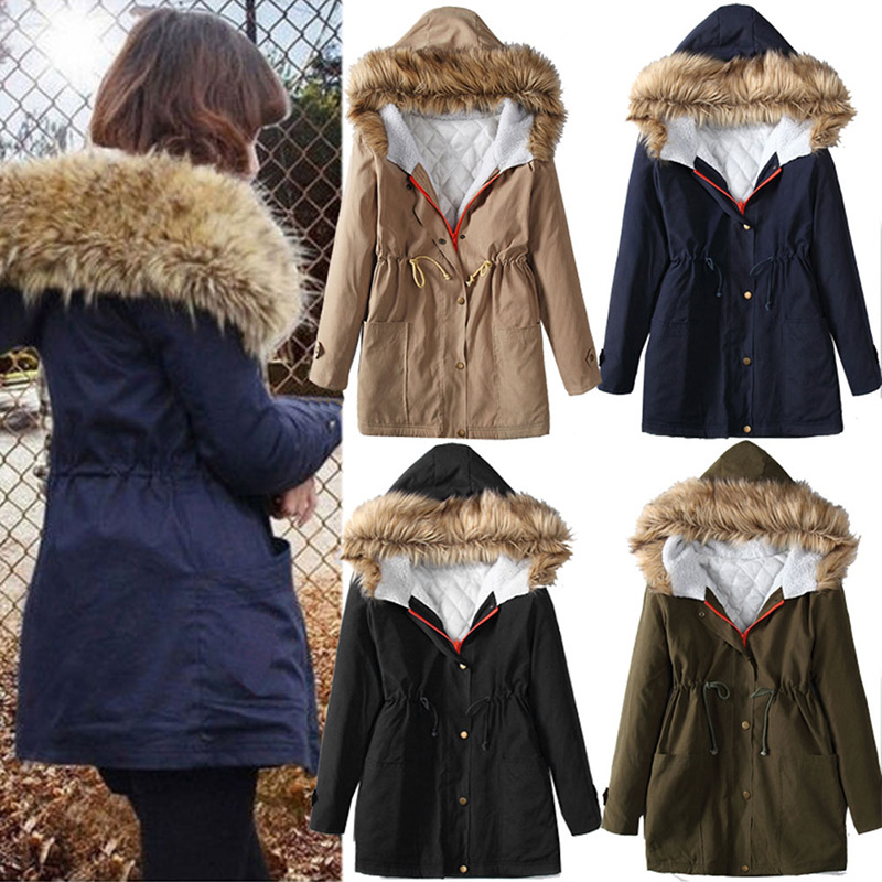 Womens Winter Jackets And Coats New Arrival Sale Solid Slim Thick 2016 Female Hitz Coat Collar