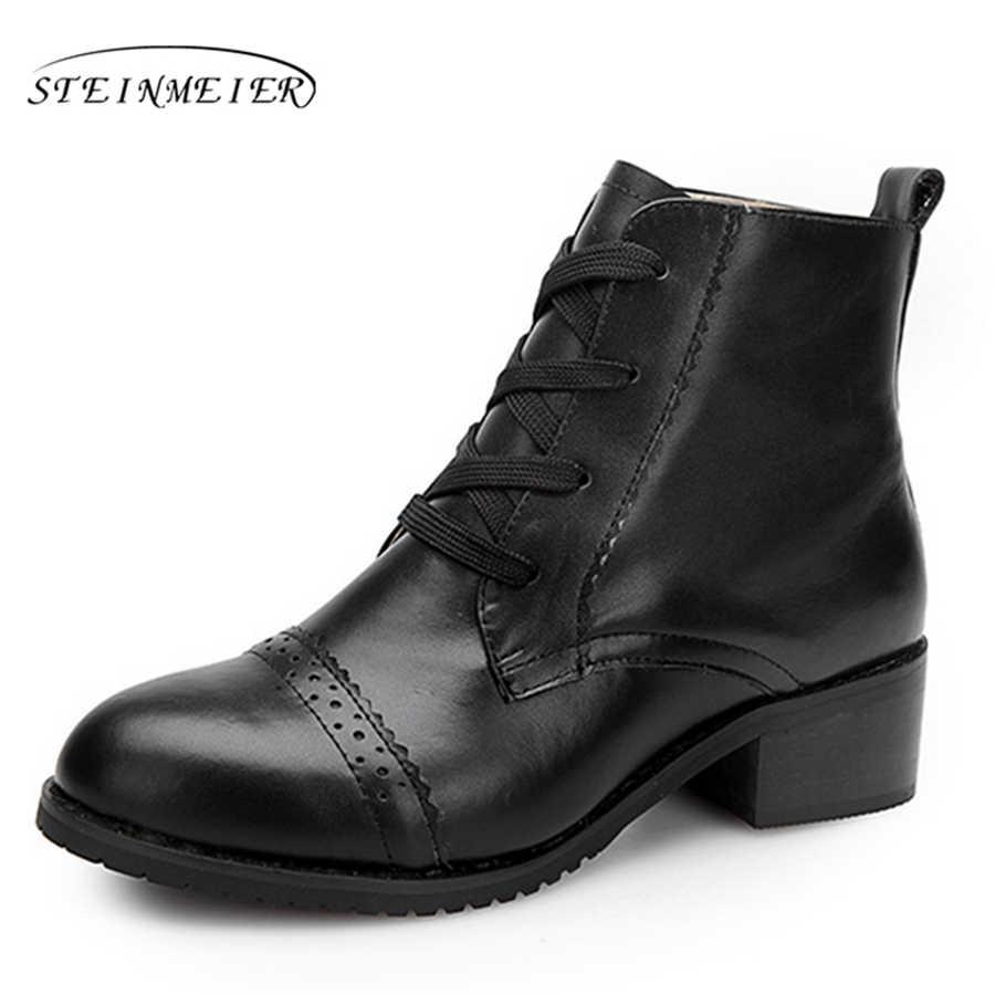 Kadın kışlık Botlar Hakiki İnek Deri Ayak Bileği Rahat kaliteli yumuşak ayakkabı Marka Tasarımcısı El Yapımı kışlık botlar siyah kürk
