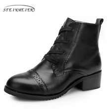 Women winter Boots Genuine cow Leather Ankle Comfortable quality soft Shoes Brand Designer Handmade winter boots black with fur women s genuine leather platform flats ankle boots brand designer comfortable winter cold weather short booties shoes for women