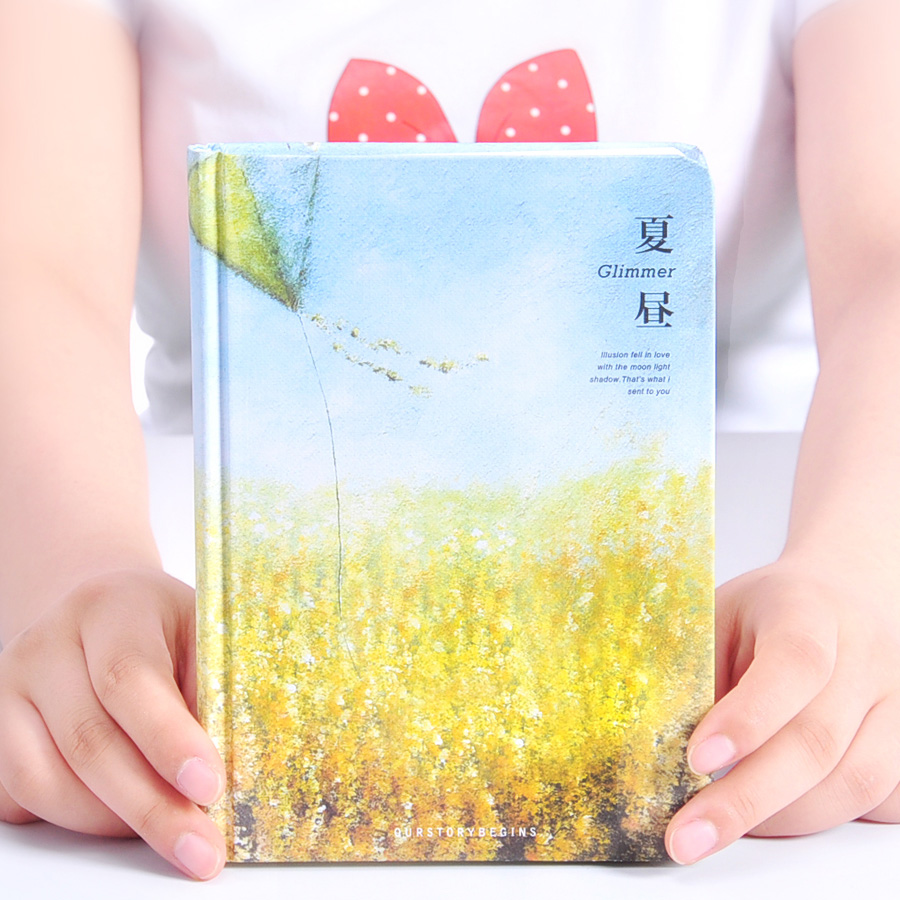 OUR STORY BEGINS Light Of Jungle Series Hardcover Notebook Horizontal Line Notebook A5 Thick Diary Book 1PCS four seasons of the hill notebook hardcover notebook a5 horizontal page notebook fresh art 1pcs