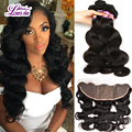 Silk Base Frontal Closure With Bundles Brazilian Body Wave Human Hair 3 Bundles With Silk Base Frontal 13x4 Ear To Ear Full Lace