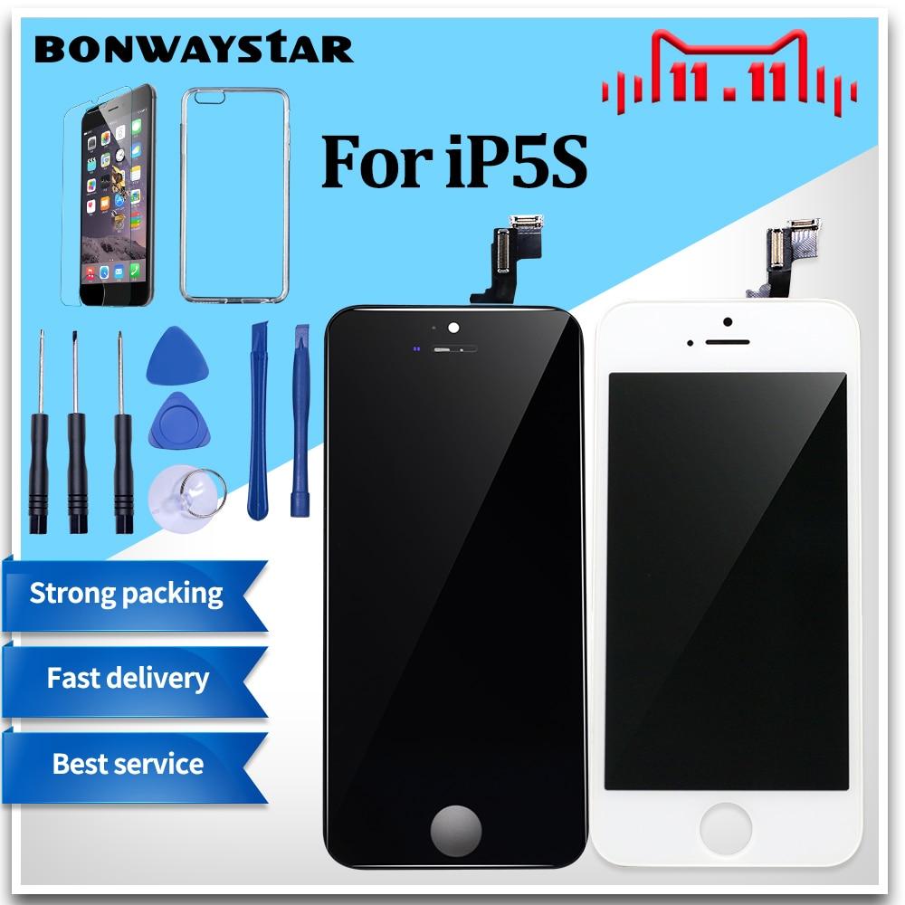 AAA Screen Für iPhone 5 5 s LCD Display Touchscreen Digitizer Ersatz Glas Modul für iPhone 6 4 s LCD Bildschirm Keine Tote Pixel