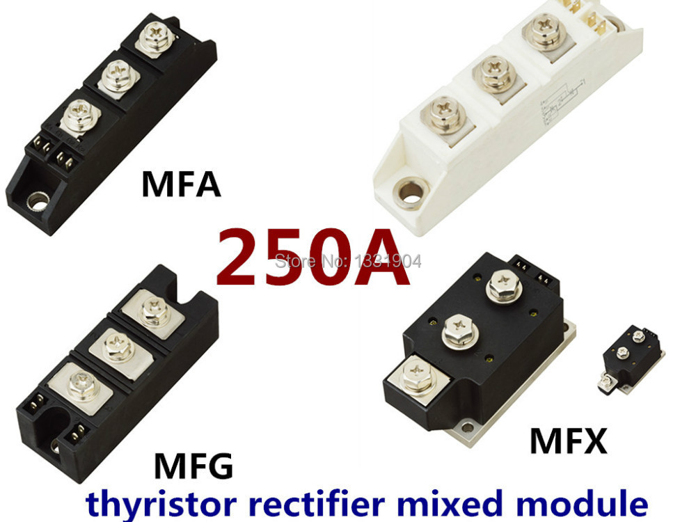 hot sale 250A Thyristor Rectifier diode mixed Module MFC MFA MFK MFX 250A welding joint free shipping brand new original japan niec indah pt150s16 150a 1200 1600v three phase rectifier module