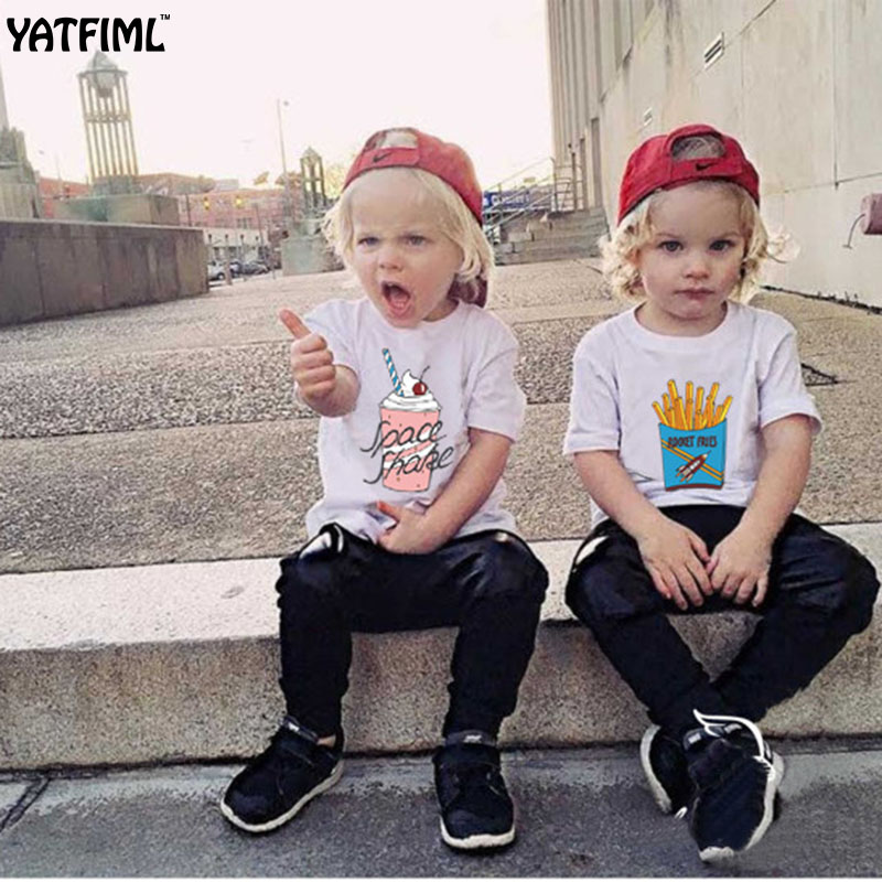 YATFIML 2017 Summer sister match clothes Family matching outfits Best friends matching T-shirts short sleeve