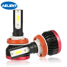 ASLENT H1 Mini Size Car Accessories 2X H7 LED Headlight Lamp H4 H11 9005 9006 100W Auto Headlamp Bulb 20000LM 6500K Fog Light