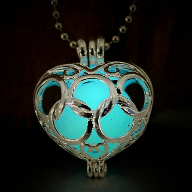 Noctilucent heart pendant necklace fashion women jewelry natural noctilucent heart pendant necklace fashion women jewelry natural stone bijouterie collar necklaces women chain choker ns3125 in pendant necklaces from aloadofball Gallery