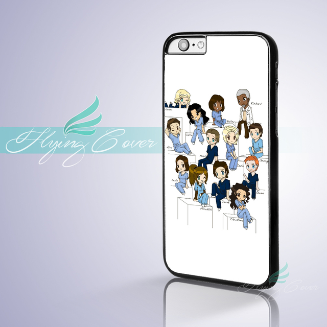 Coque Cartoon Greys Anatomy Phone Cases Cover for Apple iPhone 7 5S ...