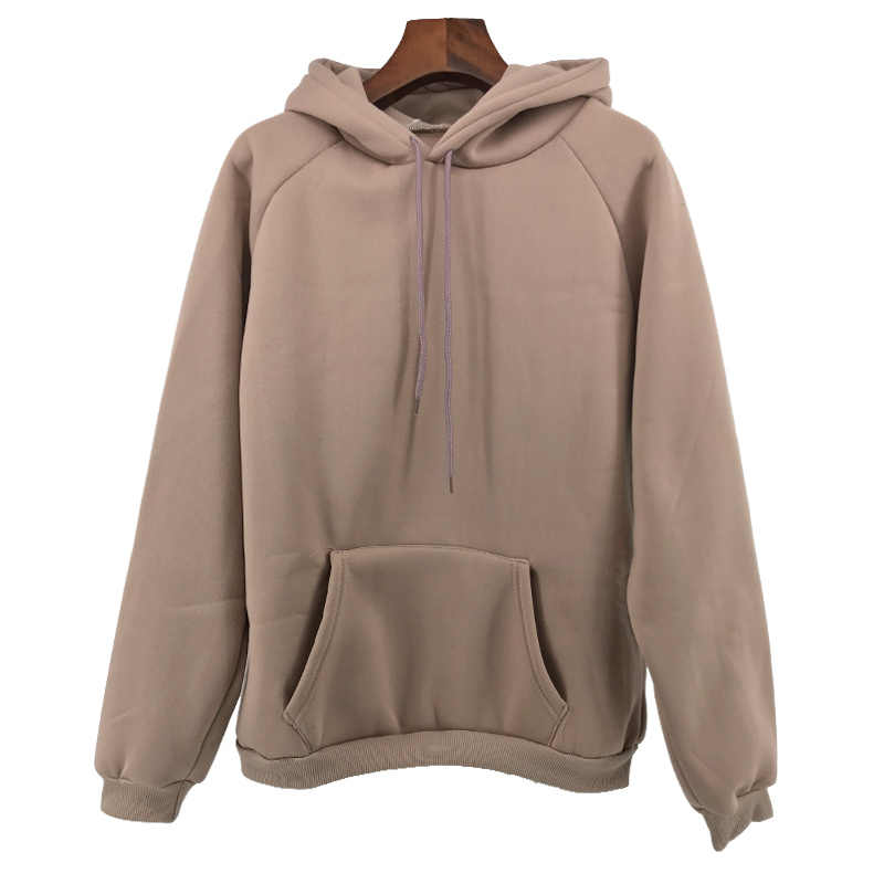 Autumn Winter Fashion Solid color Harajuku Lotus root pink Pullover Thick Loose Women Hoodies Sweatshirts Female Casual