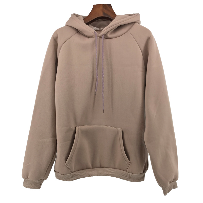 Herbst Winter Fashion Solid farbe Harajuku Lotus wurzel rosa Pullover Dicke Lose Frauen Hoodies Sweatshirts Weibliche Casual