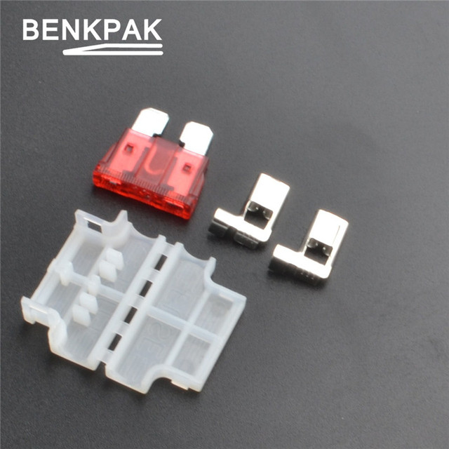 10pcs BENKPAK Auto Standard Middle Fuse Holder + fuse for Car Boat Truck ATC/ATO Blade for Car Boat new