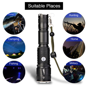 Image 5 - military police use flashlight waterproof T6 long range rechargeable LED light riding hunting torch tactical flashlight 18650