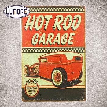 Barra Caliente Garaje Vintage Lata Señales Coche Motor Ruta De