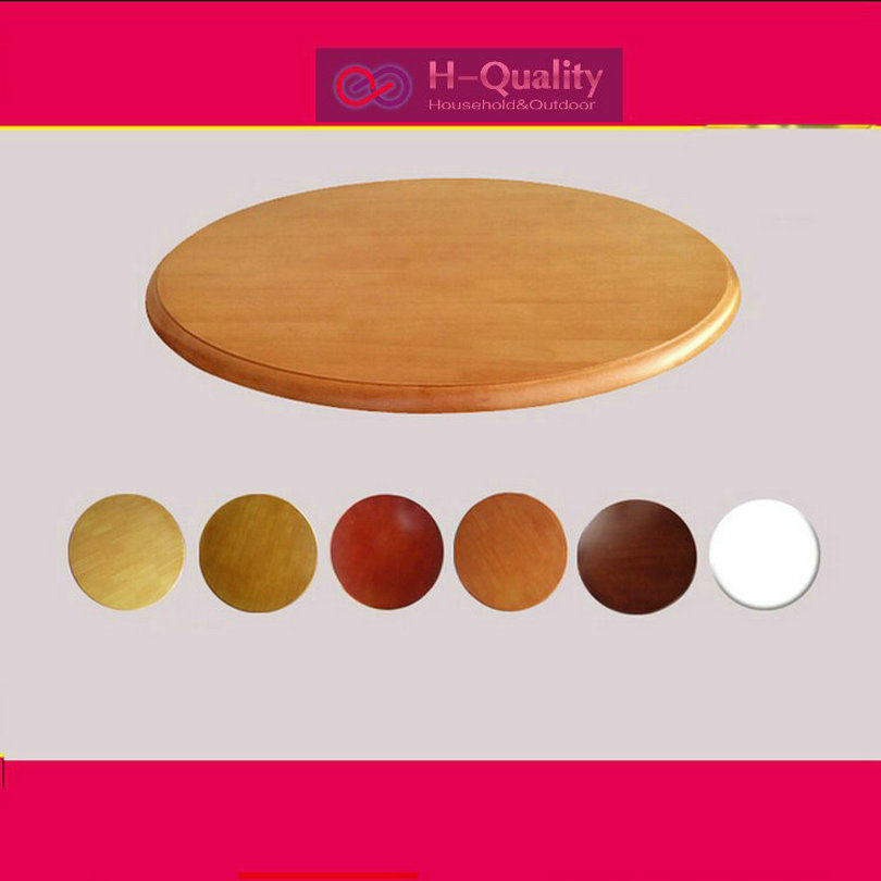 HQ SW 600MM/24INCH Dia Solid Oak Wood Quiet Smooth Lazy Susan Rotating Tray Dining Wood Table