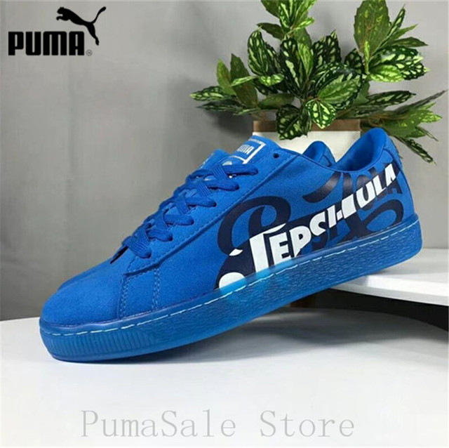 29b50f51d84 New Arrival Puma Suede Classic X Pepsi Mens Blue Suede Lace Up Sneakers  366332-02-01 Badminton Shoes Size EUR39-44