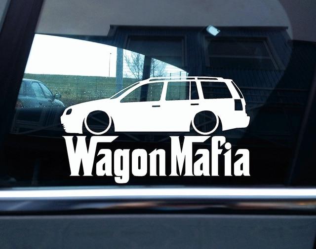 For Lowered Vw Golf Mk4 Estate Wagon Mafia Silhouette Sticker Car