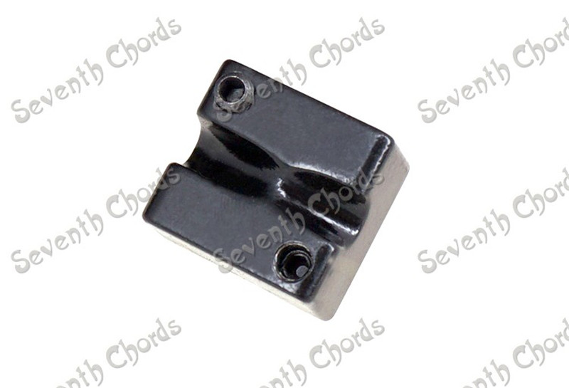 1 Pcs Headless Bass Guitar Bridge String Saddle Black Bass parts new style 6 string saddle headless guitar bridge tailpiece with worm involved string device