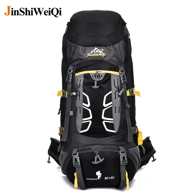 50 l professional outdoor backpack cambing climbing hiking backpack professional external frame travel hike sports bag - External Frame Hiking Backpack