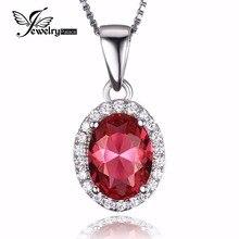 JewelryPalace Классический 2ct Создано Розовый Сапфир Стерлингового Серебра 925 Halo Кулон Не включает Цепь 2016 Изящных Ювелирных Изделий Для Женщин(China (Mainland))