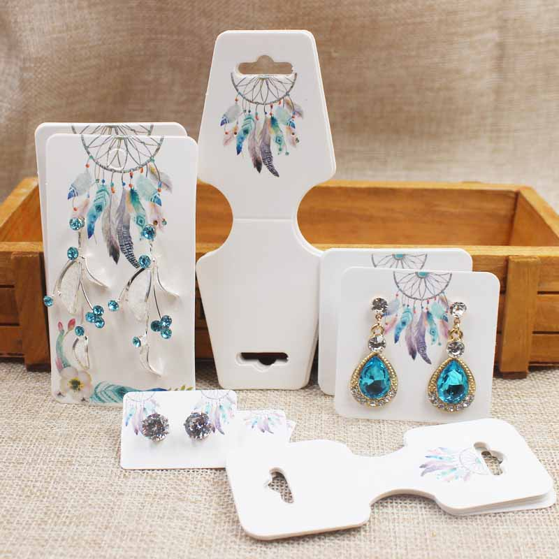 Dreamcathcer Jewelry Set Package Cards Paper Necklace/bracelet/hair Ornaments Display Tag Card Stud/drop Earring Tag Cards
