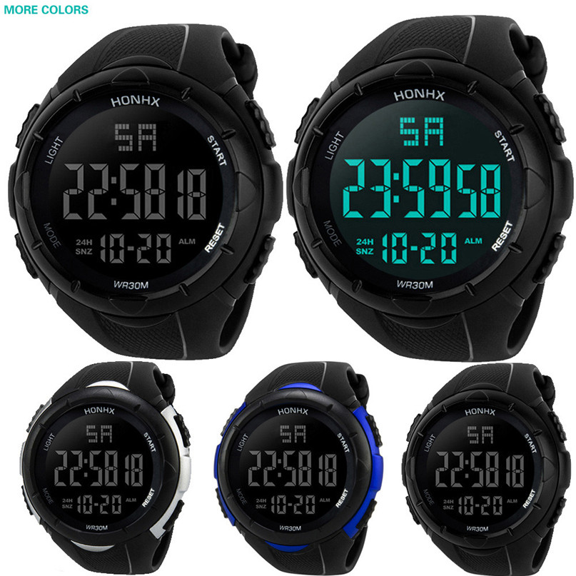 Led Watch Sport Men's Watches Fashion Waterproof Digital Quartz Military Luxury Sport Date Watches Drop Shipping#4 A22