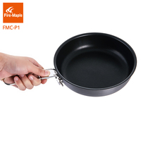 Fire Maple Outdoor Camping Non Stick Skillet Hiking Pinic Portable Hard Aluminium Alloy Frying Foldable Handle