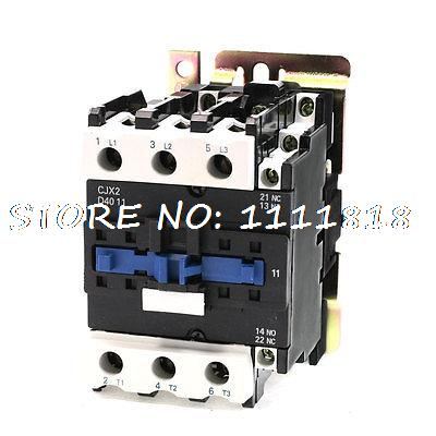 380V Rated Coil Voltage 3 Phase 1NO+1NC CJX2-4011 Alternating Current Contactor rated current 50a 3poles 1nc 1no 110v coil ith 80a ac contactor motor starter relay din rail mount