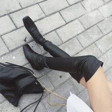 Women  Thigh High Boots Sexy Fashion Over the Knee Boots Height Increasing Woman Shoes