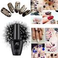 Beauty Girl Hot Charming Black Silk Stockings Soak Off Gel UV Glue Nail Polish Phototherapy Manicure Dec.20