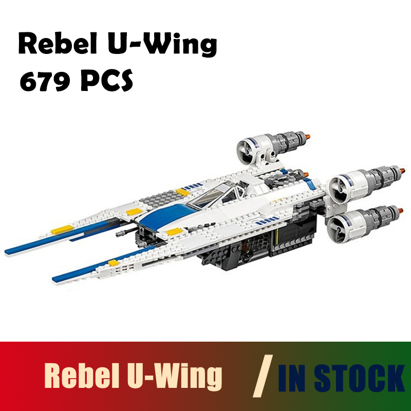 Compatible with lego city Model Building Blocks 679pcs Genuine Star War Series The Rebel U-Wing Fighter Bricks Toys 75155 05054