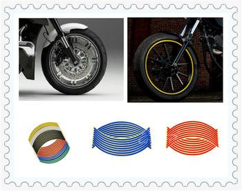 Universal Motorcycle shape wheel steel ring wheel tires reflective stickers for BMW HP2 SPORT K1200R K1200R SPORT K1200S image