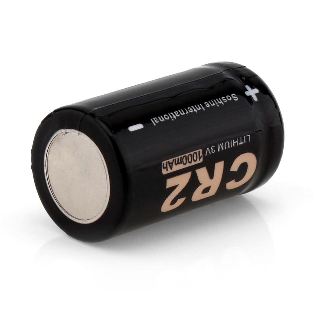 4 шт. Soshine 3V 1000 мА/ч, CR2 литий Батарея CR2 LiFePO4 Non-Перезаряжаемые Батарея для Светодиодный фонарики Налобные