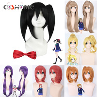Coshome Lovelive Wigs Minami Kotori Tojo Nozomi Nico Cosplay Costume Wig Women Brown Blue Orange Long