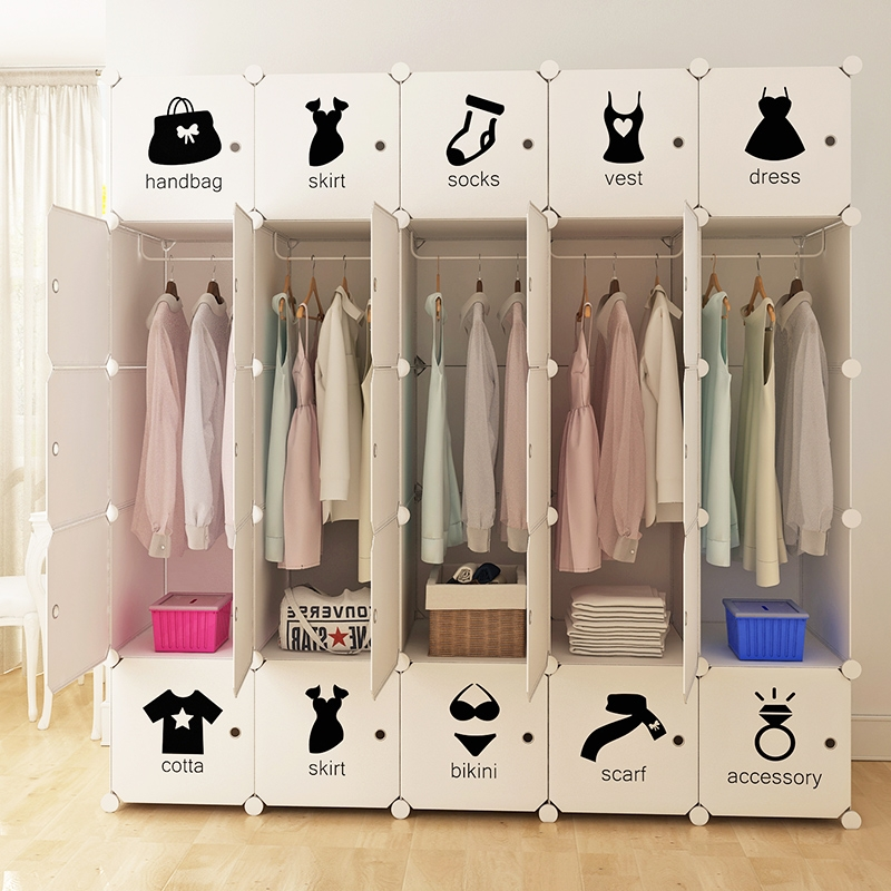 Dedicated Mple Wardrobe Simple Modern Economy Plastic Assembly Square Mens Multi-function Storage Locker Wardrobe Attractive Fashion Wardrobes Furniture