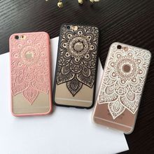 Sexy Beautiful Datura Floral Phone Cases For iphone 6 Case For iphone 6S 6 Plus Cover Classic Lace Mandala Flower Fundas