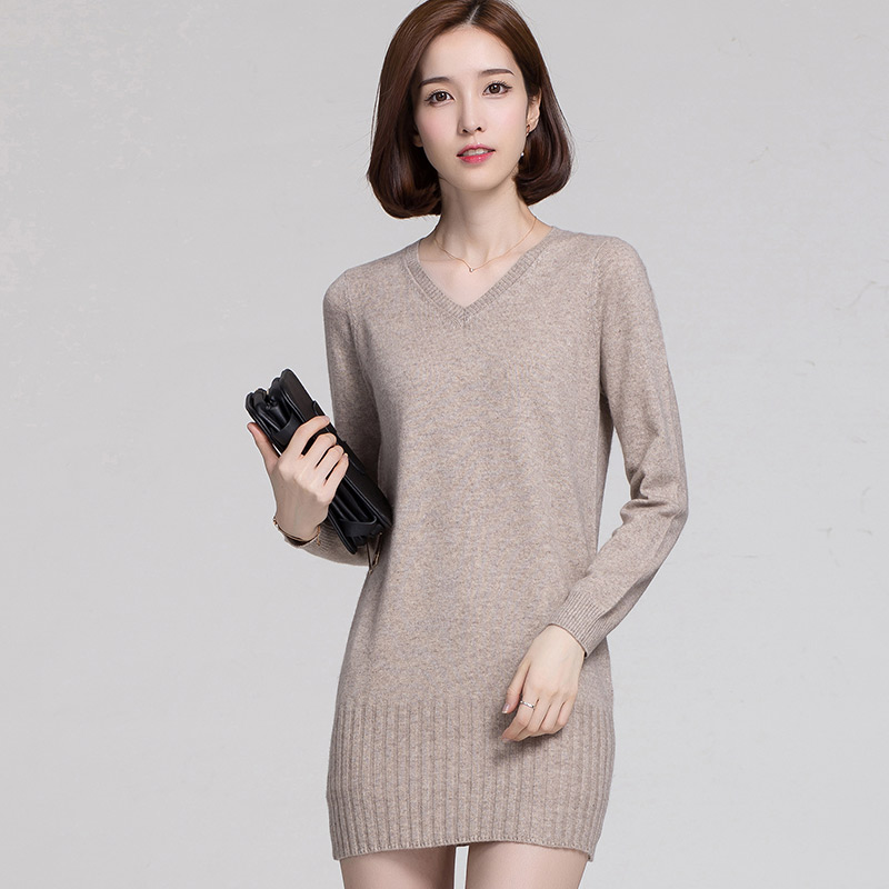 Aliexpress.com : Buy V Neck 100% Cashmere casual women ...