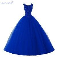 Sapphire Bridal Vestido De 15 Anos De Debutante Quinceanera Dress Beaded Ball Gown Sweet 16 Dress Turquoise Quinceanera Dresses
