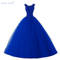 Sapphire Bridal Vestido De 15 Anos De Debutante Quinceanera Dress Beaded Ball Gown Sweet 16 Dress Turquoise Quinceanera Dresses