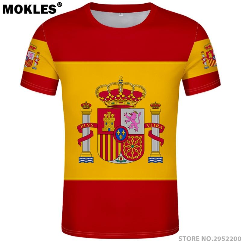 SPANIA tricou diy gratuit personalizat facut numar esp T-Shirt - Imbracaminte barbati
